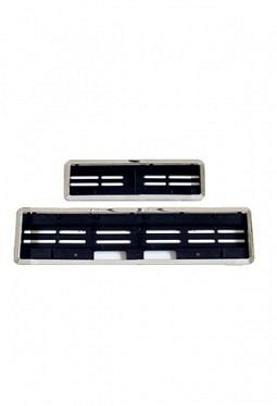 SwissClick license-plate holder chhrome