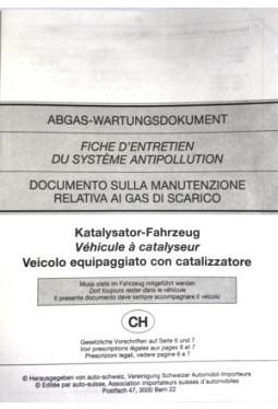 Emissions document Catalytic converter