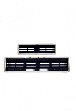 SwissClick license-plate holder chhrome